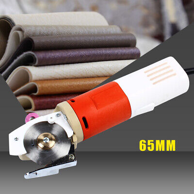 65mm Electric Cloth Cutter Rotary Round Blade Scissors Fabric Leather Cutter UK • 52£