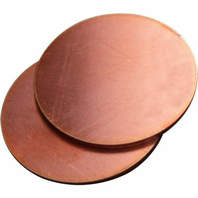 Pure Copper Disc Sheet Blanks Round Circle Gasket Plate Anode Electrode 2mm • 6.54£