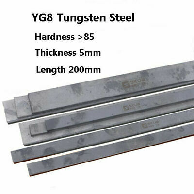 Solid Cemented Tungsten Carbide Steel Flat Bar Rod Strip For Knife Making DIY • 29.60£