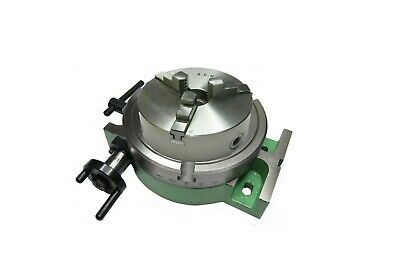 RDGTOOLS NEW 6  / 150MM Rotary Table Slim Body + Aed Slimline Chuck 3 Jaw 125mm • 189.50£