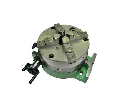RDGTOOLS NEW 6  / 150MM Rotary Table  Slim Body  + 125mm 4 Jaw Self Centering • 219.50£