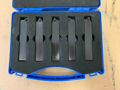 5pc Indexable Turning Tool Set 16mm Shank Various Angles No Inserts Included • 60£