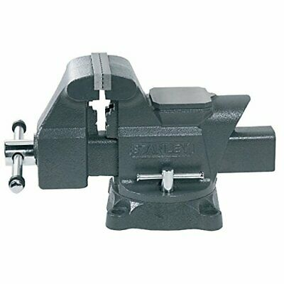 Stanley 183066 MaxSteel Heavy-Duty Bench Vice, 100mm 4 , Chrome Plated, DIY • 59.08£