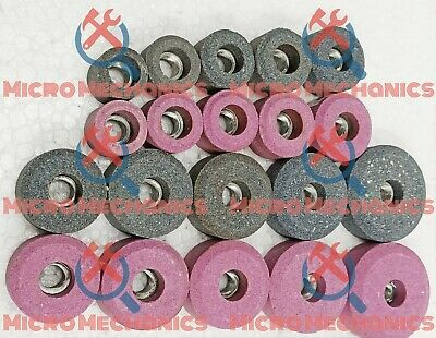 20x VALVE SEAT GRINDING STONES Kit For SIOUX HOLDER 11/16  Thread 80 Grit. • 81.87£