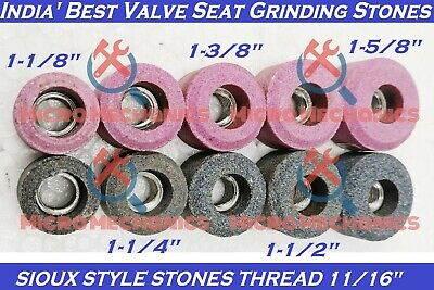 10x Kit Of VALVE SEAT GRINDING STONES For SIOUX HOLDER 11/16  Thread 80 Grit. • 45.96£