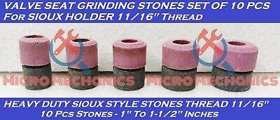 10x VALVE SEAT GRINDING STONES Kit For SIOUX HOLDER 11/16  Thread 80 Grit. • 45.96£