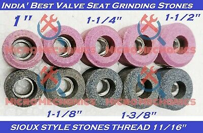 10x Set Of VALVE SEAT GRINDING STONES For SIOUX HOLDER 11/16  Thread 80 Grit. • 45.96£
