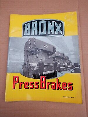 Bronx Press Brake Information Catalogue In Good Condition • 20£