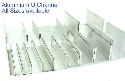 Aluminium U CHANNEL C Section 12 Sizes And 5 Pre Cut Lengths  • 17.27£