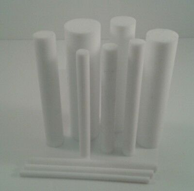 Acetal & Ptfe Round Bars Rod In Natural & Black 200mm To 600mm Long Lengths • 30.51£