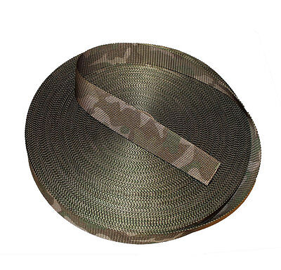 38mm Double Sided MTP /Multicam Camouflage Military Spec Webbing - UK Woven NEW • 2£