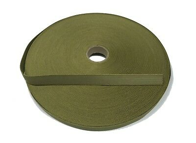 19mm / 0.75  Light Olive Military Specification Elastic ( Military Webbing MTP • 1£