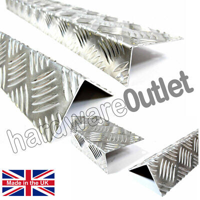 Chequer Plate Angle 1.5 Mm Corner Protectors Step Repair Equal & Unequal Angles • 7.04£