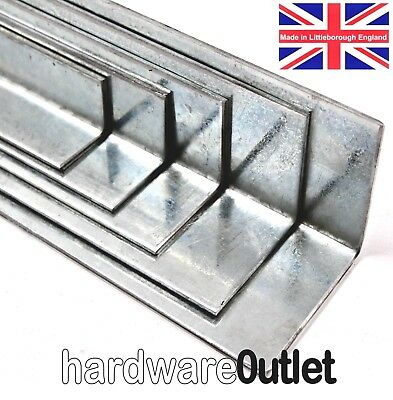 Pre-Galvanised Folded Angle 3mm Thick Equal & Unequal Angle Guillotine Cut /FOLD • 32.99£