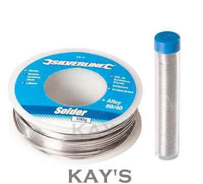 SOLDERING WIRE FLUX COVERED PLUMBING ELECTRICAL CIRCUIT BOARD 20g-100g TIN/LEAD • 6.31£