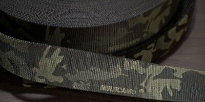 45mm - 1.75  Type 13 Double Sided Crye Multicam Black Webbing ( 7000lbs Strength • 6.50£
