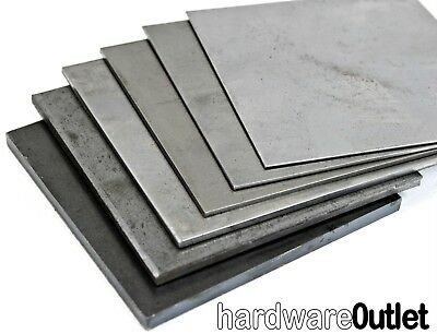 Quality MILD STEEL SHEET 0.9 - 5.0 Mm Thick UK Guillotine Cut New Metal Plate • 45.83£