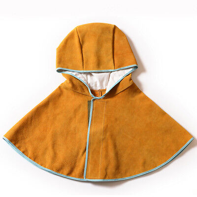 Leather Welding Hood Flame Retardant Welder Protective Cape Cover Cap Hat Safety • 13.58£
