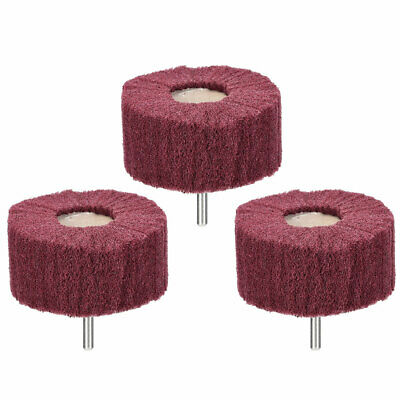 Abrasive Wheels 80mm X 40mm Buffing Polishing Wheels With 6mm Shank 3pcs • 11.11£