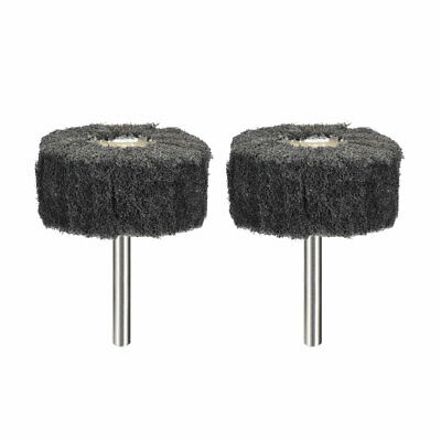 2 Inch Abrasive Wheel Buffing Polishing Wheel Gray With 1/4 Inch Shank 2pcs • 5.15£