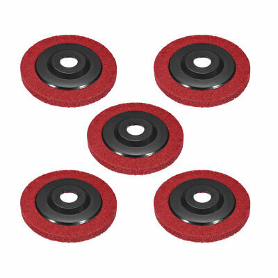 5 Inch Polishing Wheel Buffing Pad Felt Disc For 100 Angle Grinders Red 5pcs • 13.12£