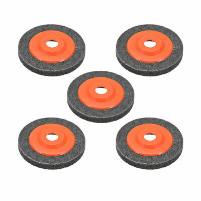 5 Inch Polishing Wheel Buffing Pad Felt Disc For 100 Angle Grinders Gray 5pcs • 11.68£