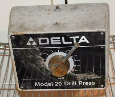 <rt> Delta Model 20 Drill Press Cast Front Cover Variable Speed • 112.04£