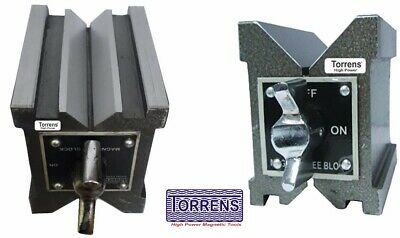 Precision Magnetic V Block Matched Pair Both Side V 80x70x60mm-3  Set Of Two Pc • 85£