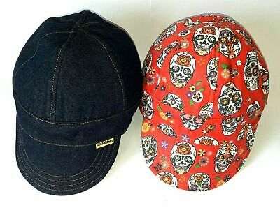 Double Sided/Reversible Skulls Welder Hat/ Welder Cap / Welding Cap - Hand • 10£