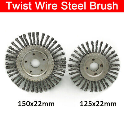 Carbon Steel Twisted Knot Radial Wire Brush Wheels 150*22mm / 125*22mm New • 6.98£
