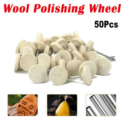 50pcs 25mm/13mm Felt Wool Polishing Buffing Wheel For Grinder Rotary Tools Neu • 6.99£