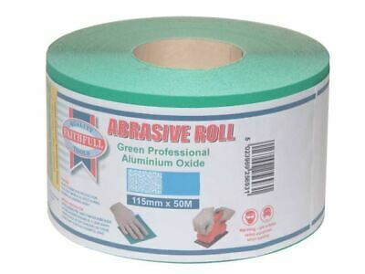 Faithfull Aluminium Oxide Sanding Paper Roll Green 115mm X 50m 40G • 52.07£