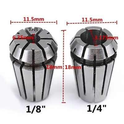 1/4''+1/8'' Inch Spring Collet Set For CNC Engraving Machine&Milling Lathe Tool • 5.99£