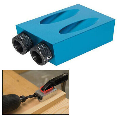 SILVERLINE 868549 ALUMINIUM POCKET HOLE JIG 6, 8 & 10mm GUIDES SCREW JOINT TOOL • 7.99£