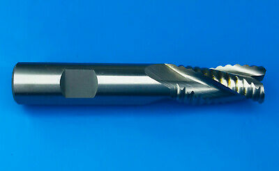 16mm HSS-Co8 3 Flute Roughing Short End Mill With Flatted Shank • 29.99£