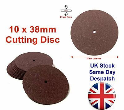 10pc 38mm Resin Fibre Cutting Disc Wheels Blades Sanding Rotary Tool • 3.49£