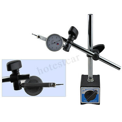 Magnetic Base Holder With Double Adjustable Pole For Dial Indicator Te • 26.15£