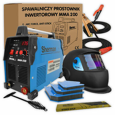 Sherman® MMA 200 Inverter Welder 190A ARC Stick Portable Welding Machine KIT • 229£