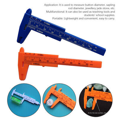 0-80MM Measuring Tool Gauge Double Scale Mini Sliding Depth Vernier Caliper Home • 4.47£