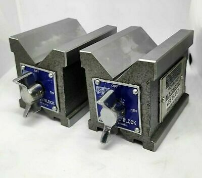 Magnetic V Block 65x65x50mm-2.5  Matched Pair Hardend & Ground Workholding Block • 94.24£