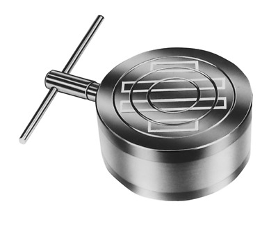 Magnetic Chuck 6.5 Inch Circular- Round Standard Pole High Quality With T Handle • 116.73£
