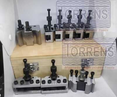 9 Pieces Set T37 Quick-Change Tool Post With 6 Standard, 1 Vee,1 Parting Holders • 131.14£