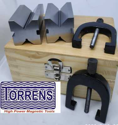 Free Shipping Steel V Block 50 X 30 X 30mm With Set Of 2 Clamp Premium Quality • 34.69£