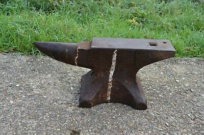 Antiques Vintage Industrial Small Mobile  Blacksmith Farrier Anvil  • 360£