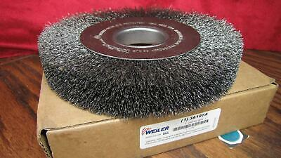 Weiler 8  Wire Wheel Brush 2  Crimped Arbor Hole CRSE WHL 06120 - # 3A197A • 37.30£