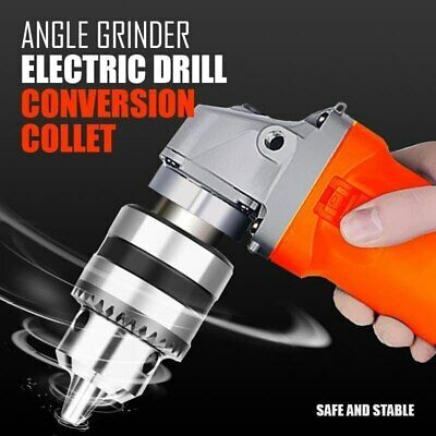 Angle Grinder Electric Drill Conversion Collet 10mm Chuck Holder Drill Adapter • 8.99£