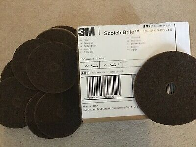 22x 3m Scotchbrite Fibre Conditioning Discs 100x16 • 10£