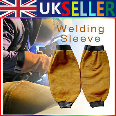 Leather Welders Sleeves Welding Sleeves Stick Arms Welding Protect Flame 1 Pair • 14£