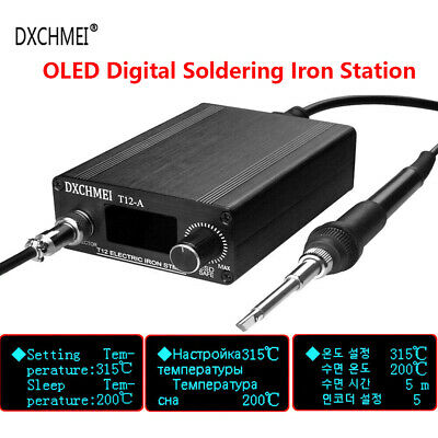 OLED Digital Soldering Iron Station DIY Tool,with T12 Handle Finished Controller • 53.93£