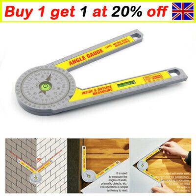 Angle Finder Miter Saw Protractor Measuring Ruler Tool Goniometer Pro Durable Uk • 8.29£